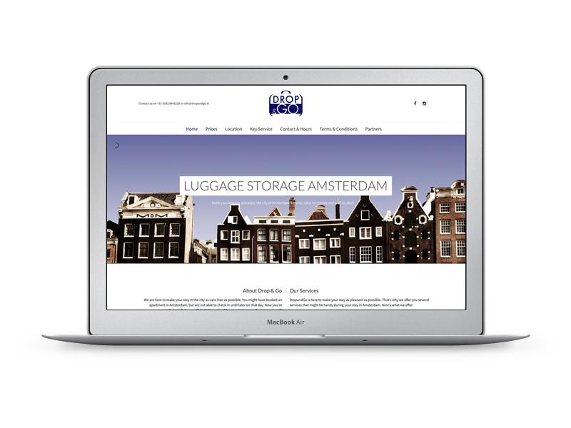 Website voor Drop & Go - Luggage Storage Amsterdam