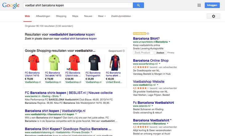zoekopdracht-google