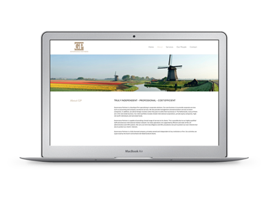 Website voor Governance Partners - Trust
