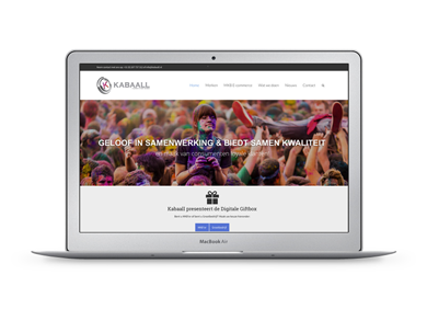 Website voor Kabaall customer loyalty