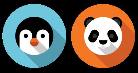 Pinguïn en Panda Update Google