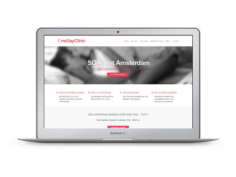 OneDayClinic heeft een website laten maken