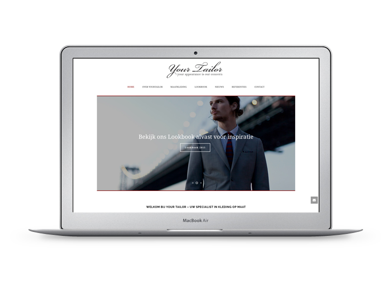 Yourtailor heeft bij Morgenonline een website laten maken