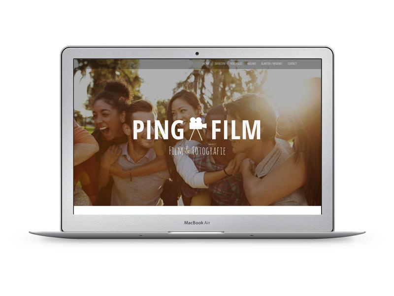 MorgenOnline maakte deze nieuwe website voor PINGFILM